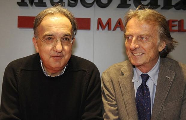 Sergio Marchionne, CEO da Fiat, e Luca Cordero di Montezemolo, ex-Presidente do Conselho da Ferrari (Foto: Divulgação)