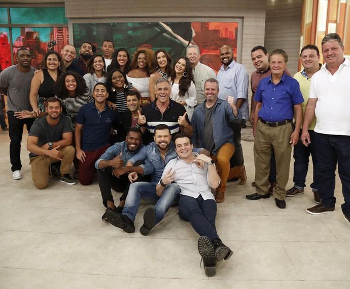 Todos os convidados desta terça-feira, 25/10 (Foto: Raphael Dias/Gshow)
