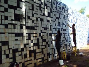 Restauração das quatro obras deve acabar em 2014 (Foto: Régia Vitória)