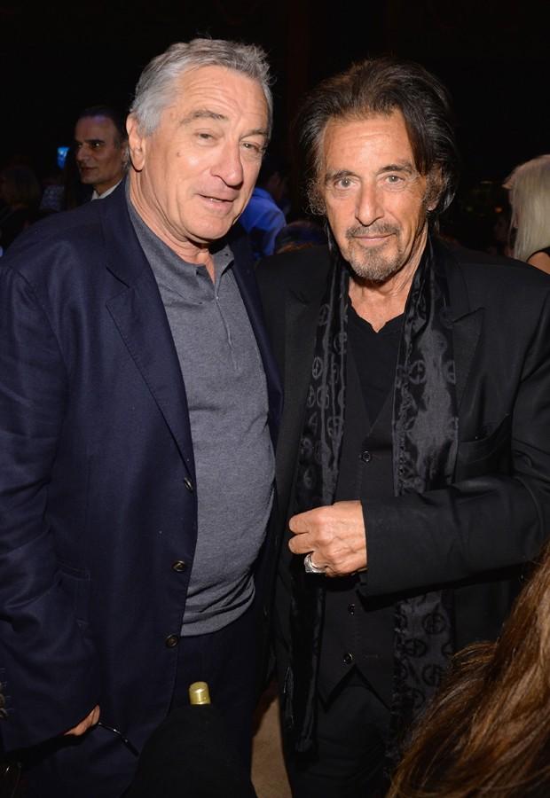 Robert De Niro e Al Pacino no início de abril (Foto: Getty Images)