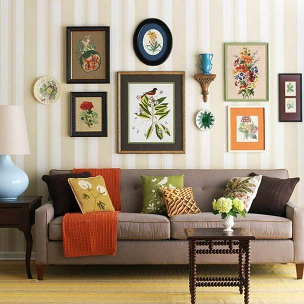 Décor do dia: mural botânico na sala