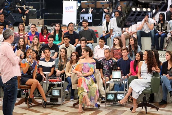 Mariana Ximenes, Camila Queiroz e Alice Braga no 'Altas' deste sábado (Foto: Carol Caminha/Gshow)