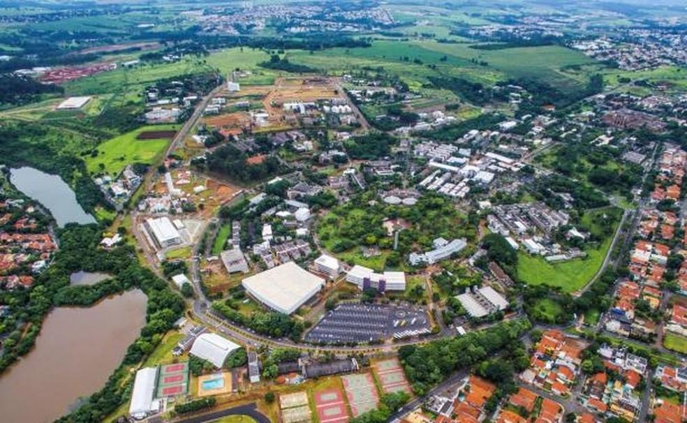 Vista aérea da Unicamp, em Campinas, onde tecnologia foi desenvolvida (Foto: Unicamp )