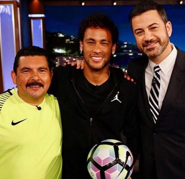 Guillermo, Neymar e Jimmy Kimmel (Foto: Reprodução)