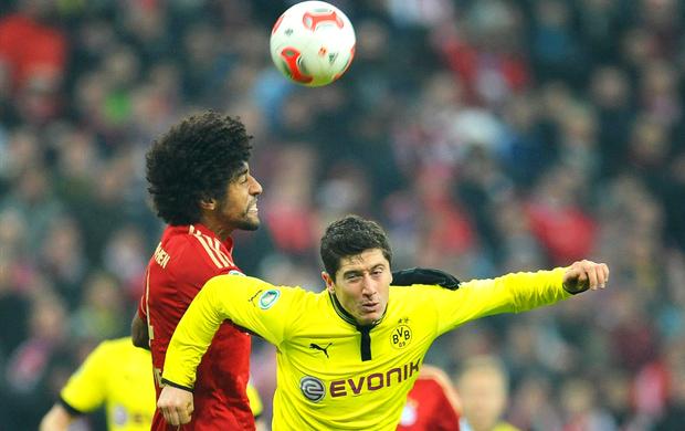Dante Lewandowski Bayern Borussia (Foto: EFE)