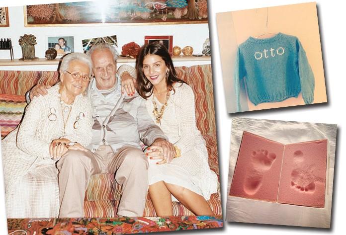 Com Rosita e ottavio, que fundaram a Missoni, e os primeiros sinais da chegada de otto, seu primogênito (Foto:  )
