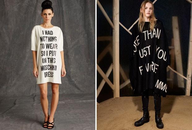 Moda de expressão: a nova estampa de camisetas, vestidos e jaquetas são as frases de efeito