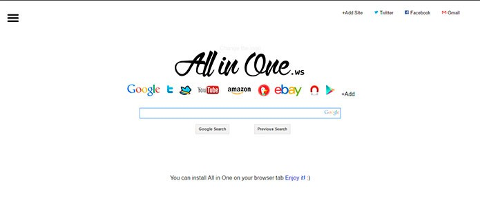Site reúne diversos buscadores (Foto: Reprodução/André Sugai)