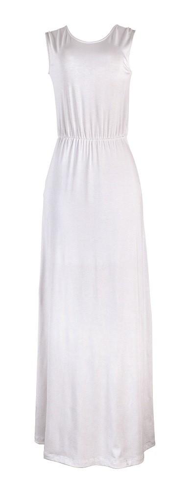 Vestido longo branco por R$ 159,99 (Foto: Divulgação/Hering)
