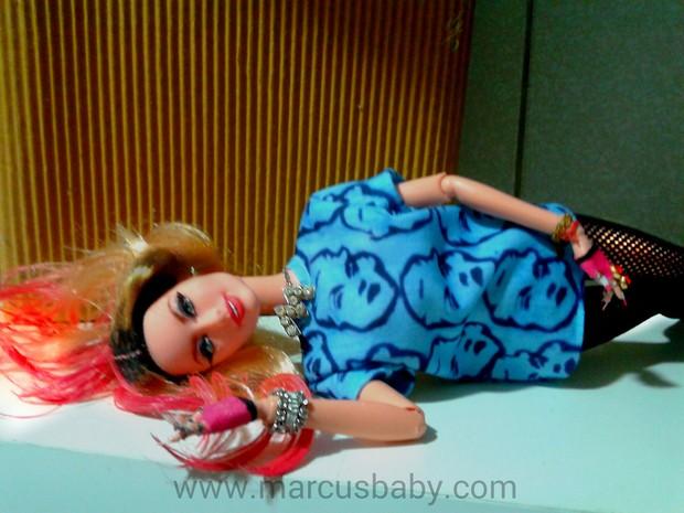 Boneca da Madonna criada pro Marcos Baby (Foto: Arquivo Pessoal/Divulgação)