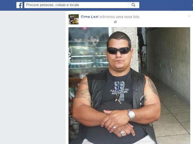 Sargento Cirne Leal morre após acidente de moto (Foto: Reprodução Facebook)