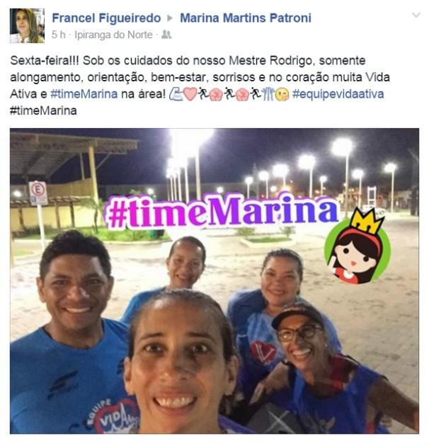 A Francel juntou a sua equipe e também escolheu o Time Marina (Foto: arquivo pessoal)