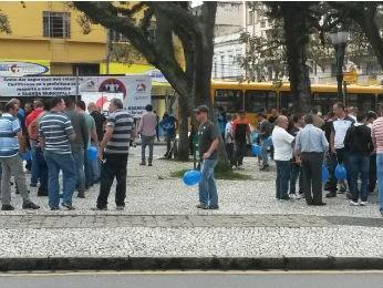 Paralisação dos Guardas Municipais deve durar 24 horas  (Foto: Luiz Fernando Martins / RPC TV)