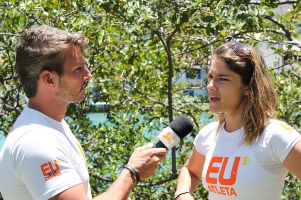 juliano ceglia entrevista priscila fantin (Foto: Sandro Gama)