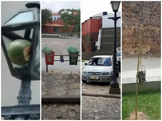 Centro Histórico de São Luís é alvo de depredações (Foto: Fábio Henrique/Subprefeitura do Centro Histórico)