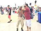 Personagens infantis atraem crianças e adultos no Boulevard Olímpico