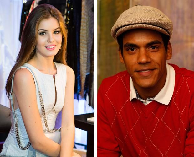 Camila Queiroz e Marcelo Mello Jr. marcam presença no SuperStar Web (Foto: Gshow)