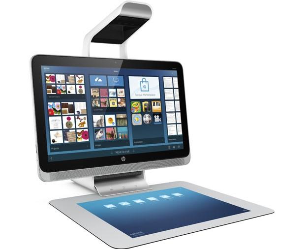O computador pessoal Sprout, da HP, possui scanner 3D e projetor acoplado. (Foto: HP/Reuters)