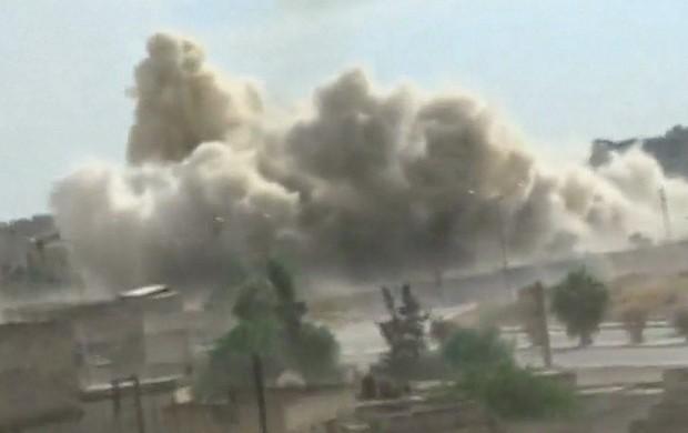 Bombardeio a hospital (Reprodução GloboNews)