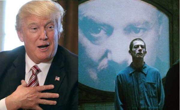 Donald Trump e uma cena de '1984' (1984) (Foto: Getty Images/Reprodução)