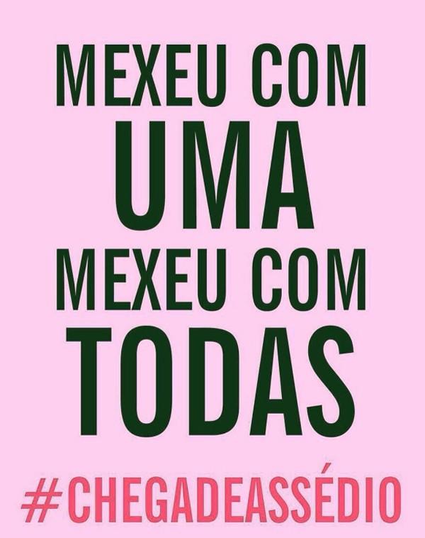 Funcionárias da TV Globo e famosas divulgam continuação de campanha contra assédio sexual (Foto: Reprodução / Instagram)