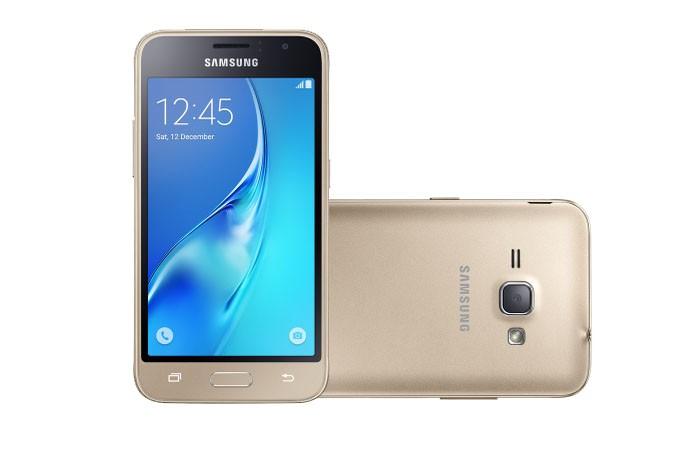 Galaxy J3 é um smartphone intermediário da Samsung com preço abaixo de R$ 1 mil (Foto: Divulgação/Samsung)