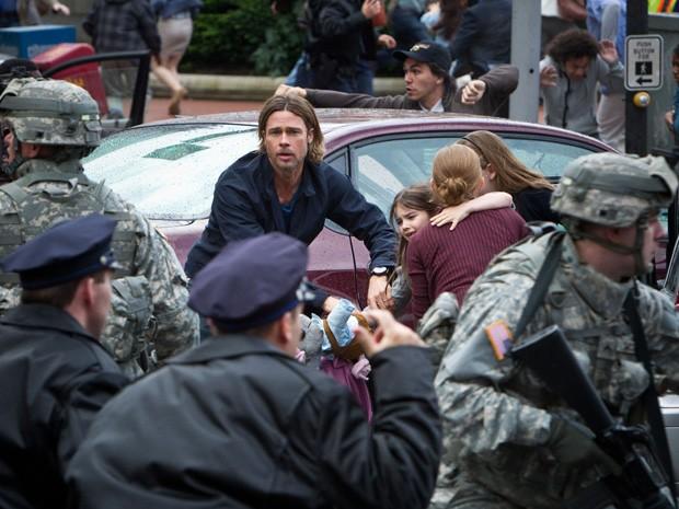 Brad Pitt protagoniza o filme 'Guerra Mundial Z' (Foto: Divulgação)