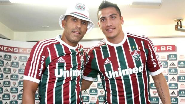 Felipe e Monzón, Apresentação Fluminense (Foto: Ricardo Ayres / Agência Photocamera)