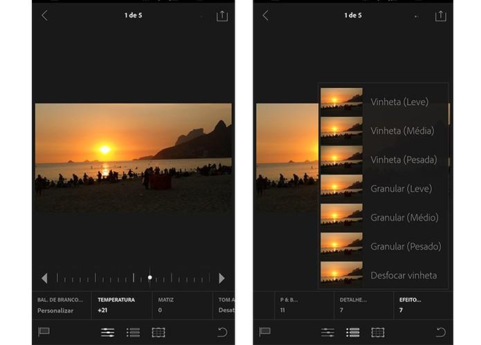 Adobe LightRoom tem opções avançadas para edição (Foto: Reprodução/Barbara Mannara)