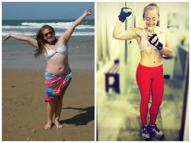 Thynara emagreceu mais de 30 kg com dieta balanceada e exercícios físicos (Foto: Arquivo Pessoal)