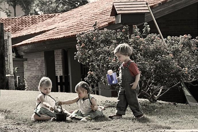 Laura, Luiza e Mateus (Foto: Leonardo Luz/Divulgação)
