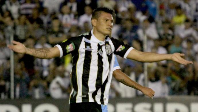 Rafael Oliveira, autor do primeiro gol do Treze contra o Paysandu pela Série C (Foto: Leonardo Silva/Jornal da Paraíba)