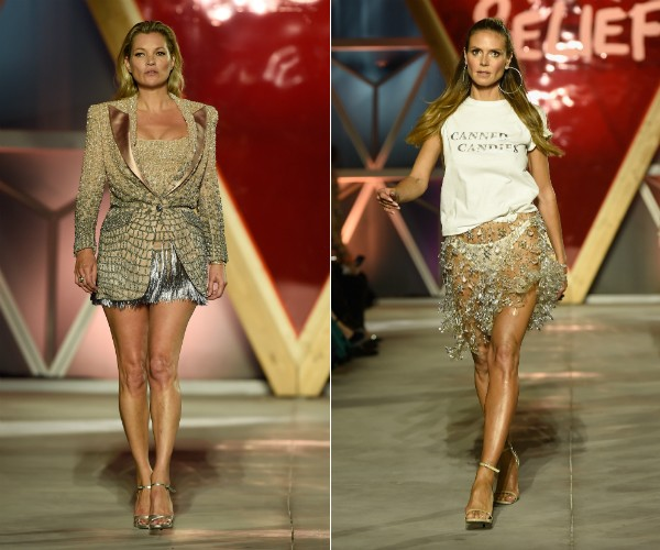 Kate Moss e Heidi Klum (Foto: Getty Images)