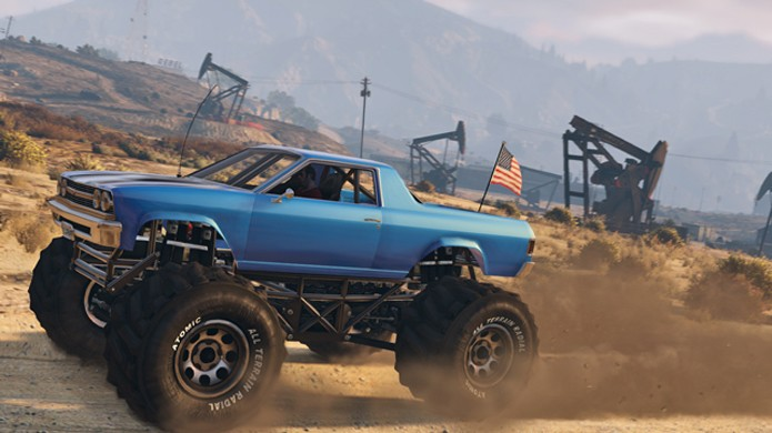 Novo caminhão monstro Cheval Marshall em GTA 5 permite dirigir sem se preocupar com obstáculos (Foto: Divulgação)