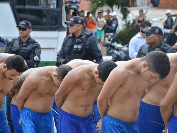 Segundo a a Sejuc, transferência faz parte de um processo de racionalização do sistema prisional do estado (Foto: Divulgação/Sejuc)