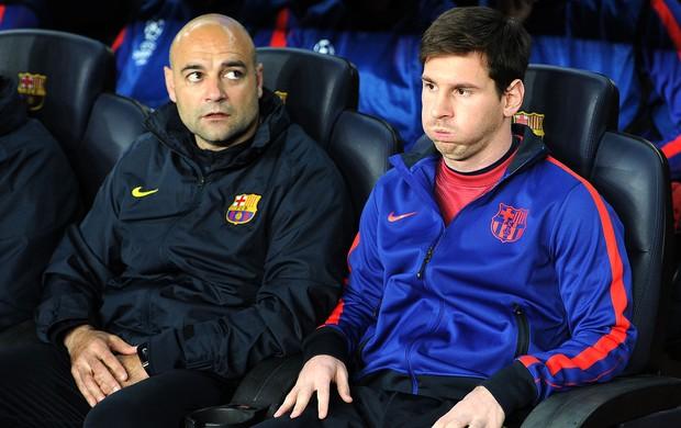 Messi banco de reservas Barcelona PSG (Foto: AFP)