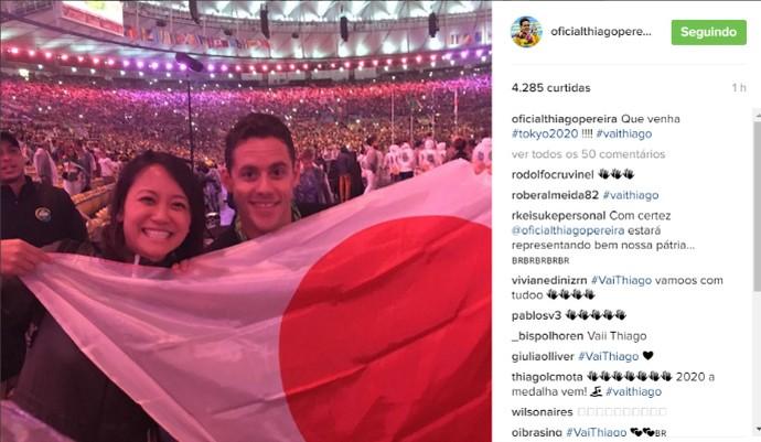Thiago Pereira - Olimpíada  (Foto: Reprodução/Instagram)