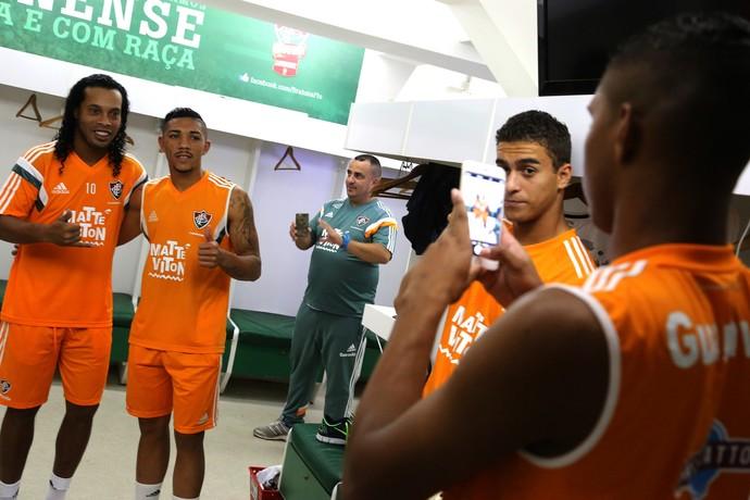 ronaldinho gaúcho, fluminense, laranjeiras (Foto: Nelson Perez/Fluminense FC)