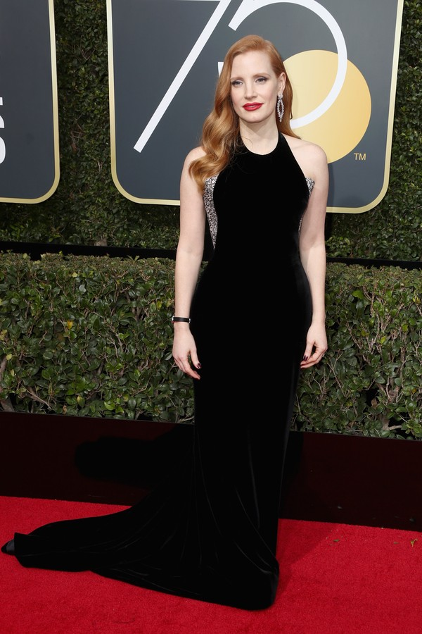 BEVERLY HILLS, CA - JANUARY 07:  Jessica Chastain attends The 75th Annual Golden Globe Awards at The Beverly Hilton Hotel on January 7, 2018 in Beverly Hills, California.  (Photo by Frederick M. Brown/Getty Images) (Foto: Getty Images)