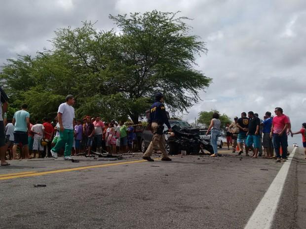 Entre as vítimas estão duas crianças: uma de oito anos e outra de um (Foto: Francisco Júnior/Inter TV Cabugi)