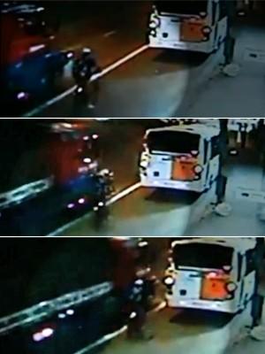 atropelamento ciclista 300x400 (Foto: Reprodução/TV Globo)