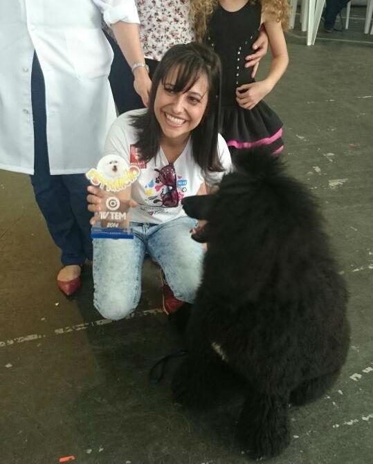 José, da raça Poodle Standart, levou o prêmio de mais exótico (Foto: Adriana Pellegrino )