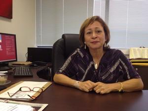Denise Bonfim é considerada a primeira presidente da Câmara Criminal do TJAC (Foto: Veriana Ribeiro/G1)