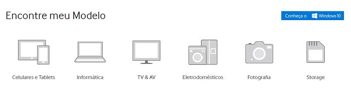 Escolha o produto para o qual você deseja suporte (Foto: Felipe Alencar/TechTudo)