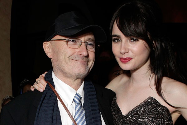Phil Collins e Lily Collins (Foto: Getty Images)
