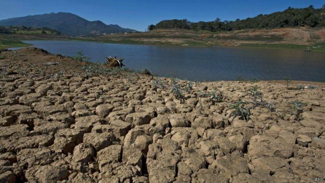 Crise da água em São Paulo desperta discussões sobre abastecimento, consumo e clima (Foto: AFP/BBC)