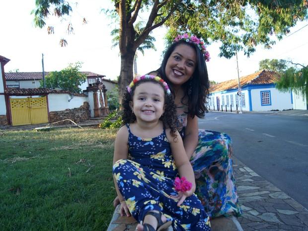 Karen e a filha, Maria Flor