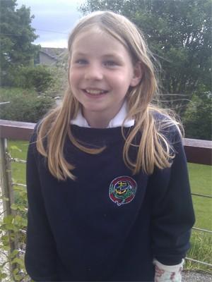 A blogueira escocesa Martha Payne, de 9 anos, escreve sobre a comida servida em seu colégio e debate a alimentação escolar com crianças de todo o mundo (Foto: Dave Payne/Arquivo pessoal)