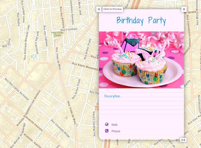 Mapa com box de evento (Foto: Reprodução/André Sugai)