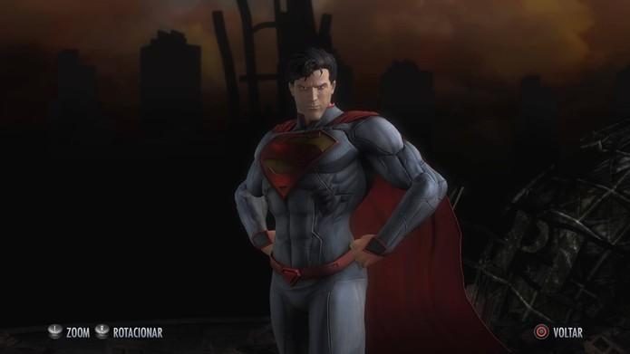 Superman dos Novos 52 em Injustice (Foto: Reprodução/Felipe Vinha)